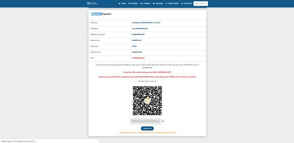 اسکن کد و پرداخت رمزارز