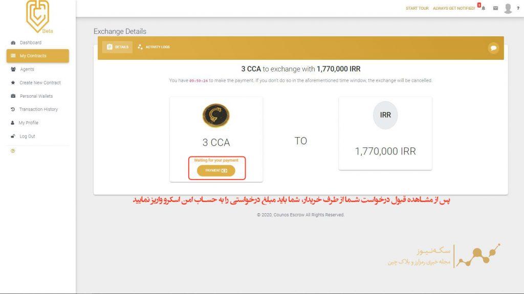 ثبت درخواست فروش کونوس