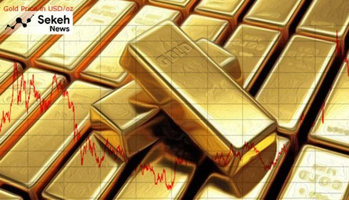 حرکت طلا به سمت پایین ترین نرخ یک هفته اخیر