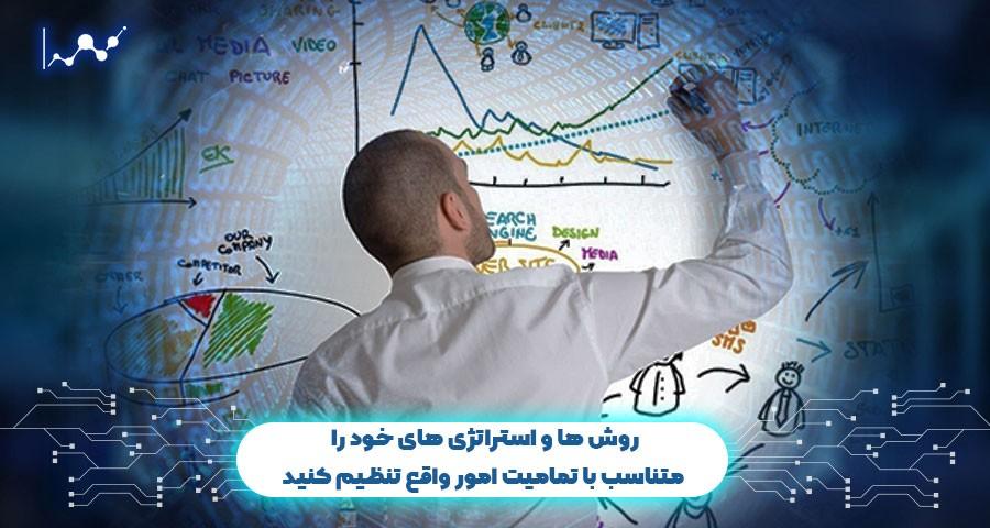 روش ها و استراتژی های خود را متناسب با تمامیت امور واقع تنظیم کنید