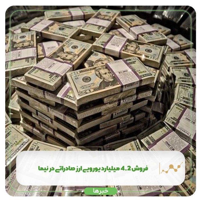 فروش ۴.۲ میلیارد یورویی ارز صادراتی در نیما